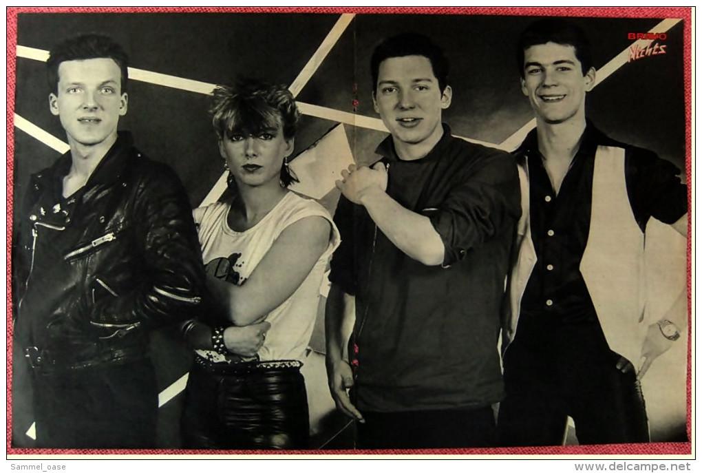 Kleines Musik Poster  -  Adam Ant  -  Rückseite : Gruppe Nichts -  Von Bravo Ca. 1982 - Plakate & Poster