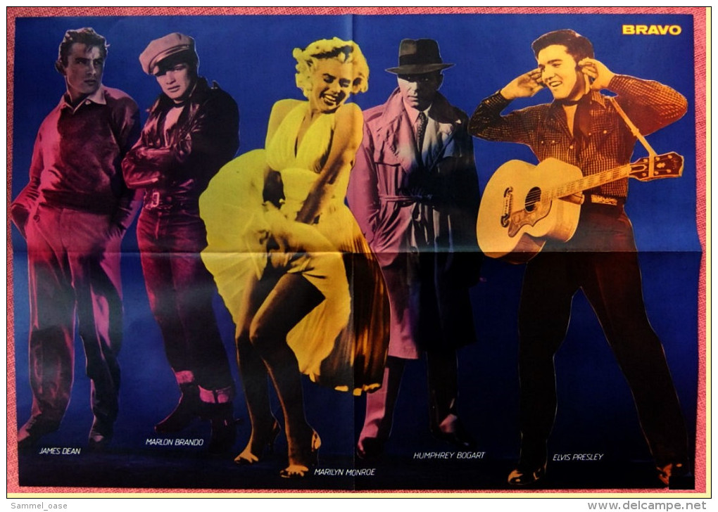 Musik Poster  Gruppe BAP  -  Rückseite : James Dean / Marlon Brando / Marilyn Monroe - Von Bravo Ca. 1982 - Plakate & Poster