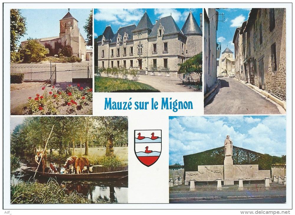 Lin@ CP MULTIVUES MAUZE SUR LE MIGNON, DEUX SEVRES 79 - Mauze Sur Le Mignon