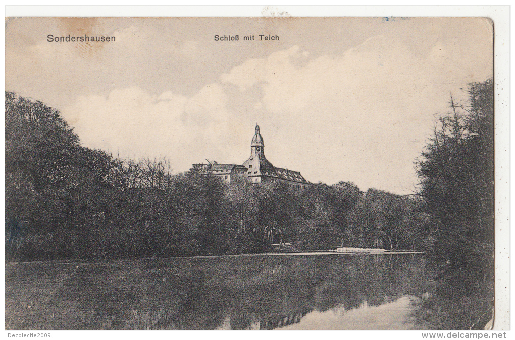 BF17571 Sondershausen Schloss Mit Teich  Germany  Front/back Image - Sondershausen