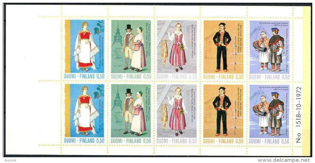 Finlande Suomi1972 Yvertn° Carnet C674 *** MNH 30 Euro Costumes Nationaux Klederdracht - Carné