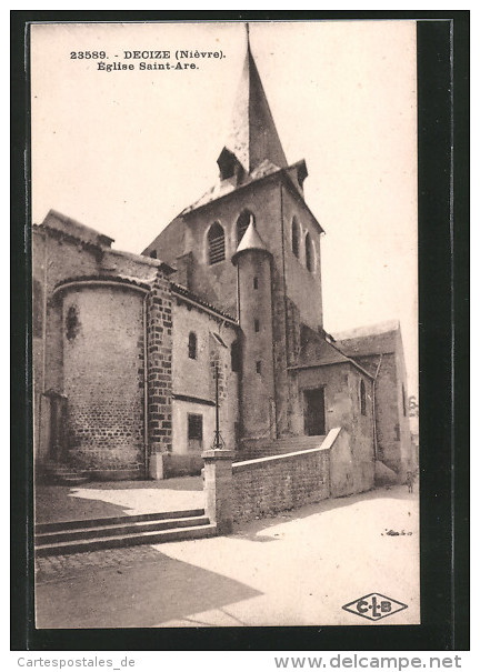 CPA Decize, Église St-Are - Decize