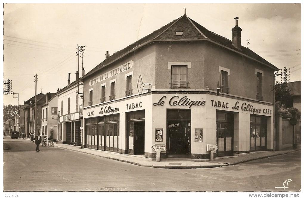 CPSM - 78 - LES MUREAUX - CAFE  - TABAC - HOTEL - LE CELTIC - Les Mureaux