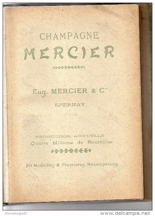 51 - EPERNAY - RARE CLASSEUR CARTES POSTALES CHAMPAGNE MERCIER - 1900- ART NOUVEAU - Calendriers