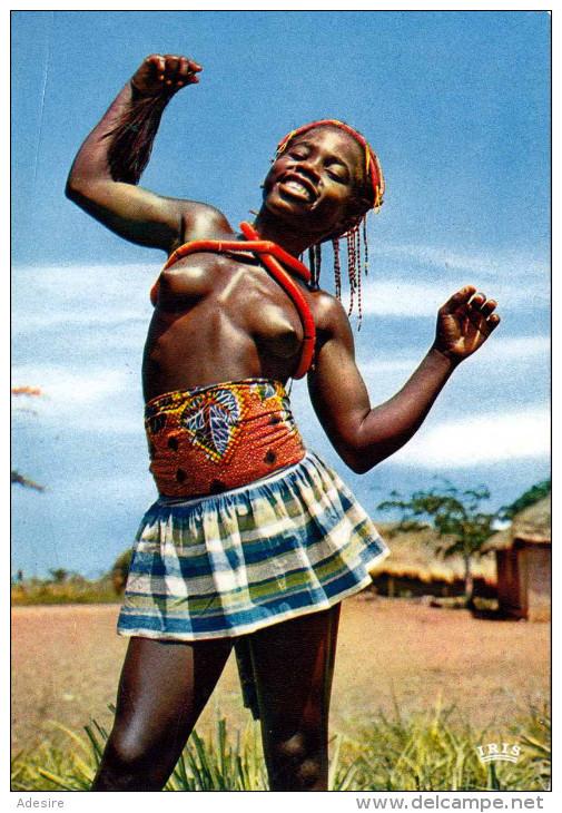 AFRIQUE - Little Dancer, Junge Afrikanische Tänzerin Mit Nackten Brüsten - Nordafrika, Maghreb