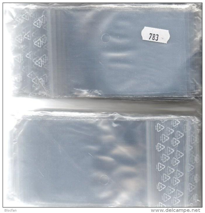 #783 Lindner 200 Große Polybeutel/Verschluß Neu 7€ Schutz/Sortieren Figuren/Abzeichen 80x120mm For Stamps,coins Of World - Metal Figurines