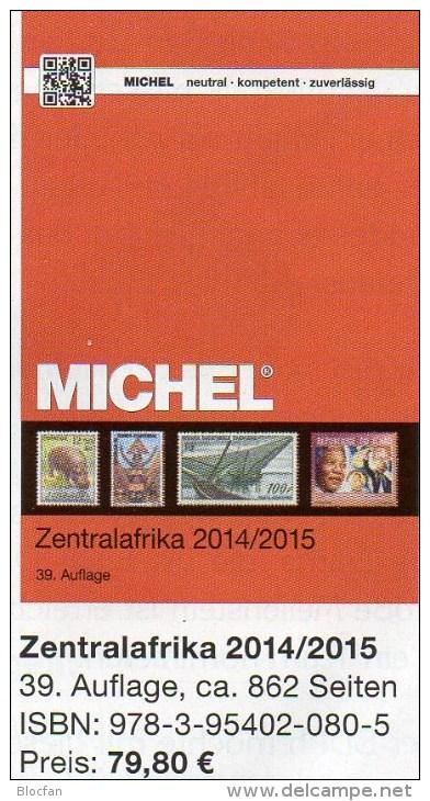 MICHEL Süd-Afrika Band 6/1 Katalog 2014/2015 New 80€ Centralafrica Angola Guinea Gabun Kongo Mocambique Tchad Tome Zaire - Tarjetas Telefónicas