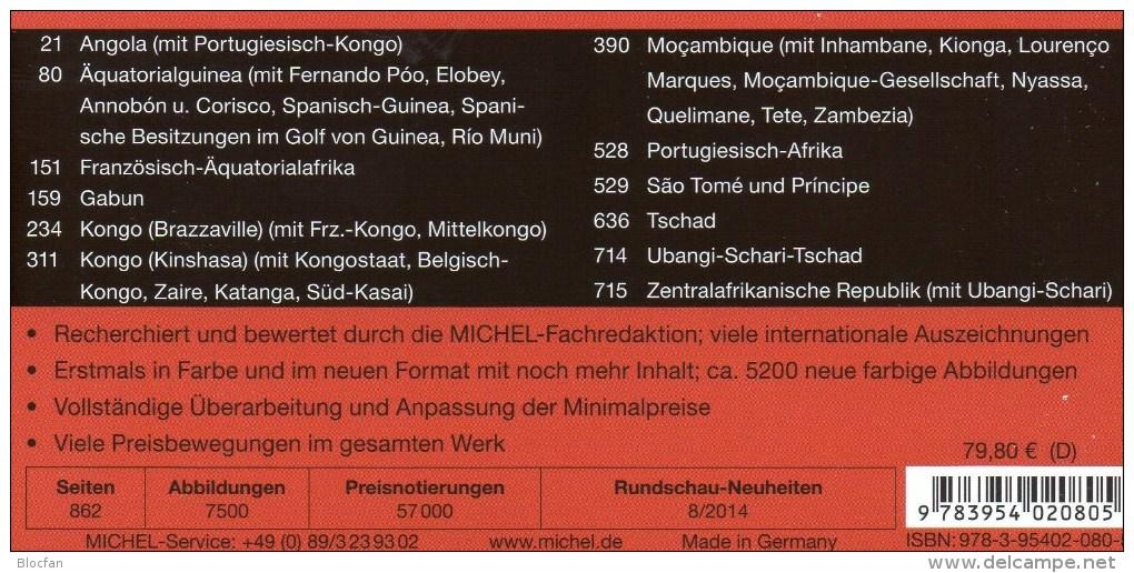 MICHEL Süd-Afrika Band 6/1 Katalog 2014/2015 New 80€ Centralafrica Angola Guinea Gabun Kongo Mocambique Tchad Tome Zaire - Material Und Zubehör
