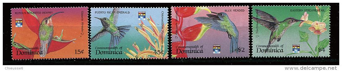 Dominique ** N° 1377 à 1380 - Oiseaux-mouches Des Caraïbes - Dominica (1978-...)