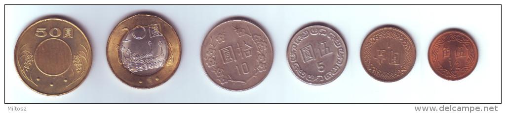 Taiwan 6 Coins Lot - Taiwan