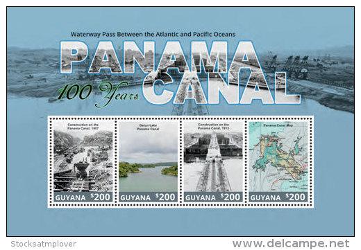 Guyana-2014-Panama Canal-Architecture-Map - Guiana (1966-...)