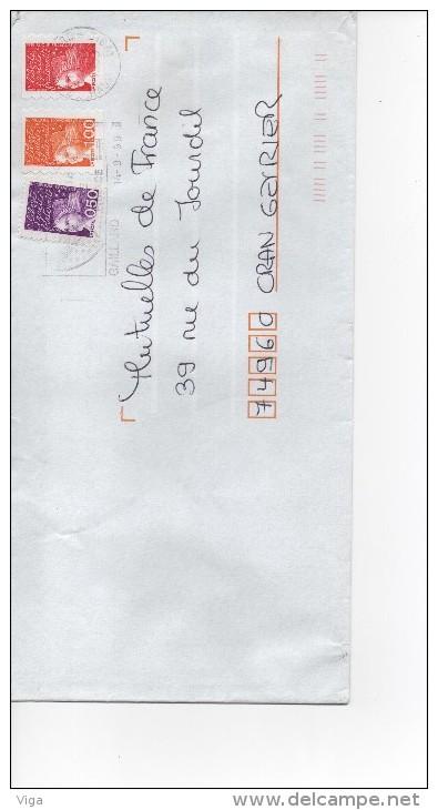 MARIANNE DU 14 JUILLET  TVP ROUGE  +  1,00  +  0.50     14/09/1999 SUPERBE - 1997-04 Marianne Of July 14th
