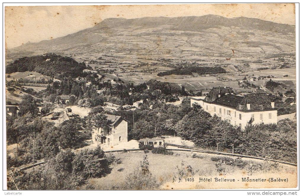 HAUTE SAVOIE 74.MONNETIER SALEVE HOTEL BELLEVUE - Autres Communes