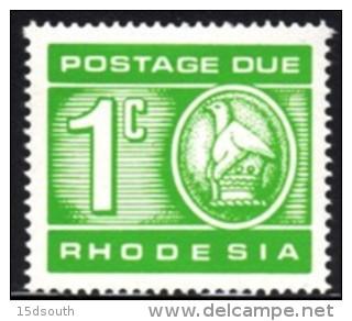 Rhodesia - 1970 Postage Due 1c (**) # SG D18 , Mi 11 - Rhodesia (1964-1980)