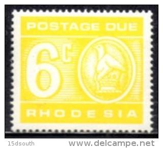 Rhodesia - 1970 Postage Due 6c Reprint (**) # SG D21 , Mi 14 - Rhodesia (1964-1980)