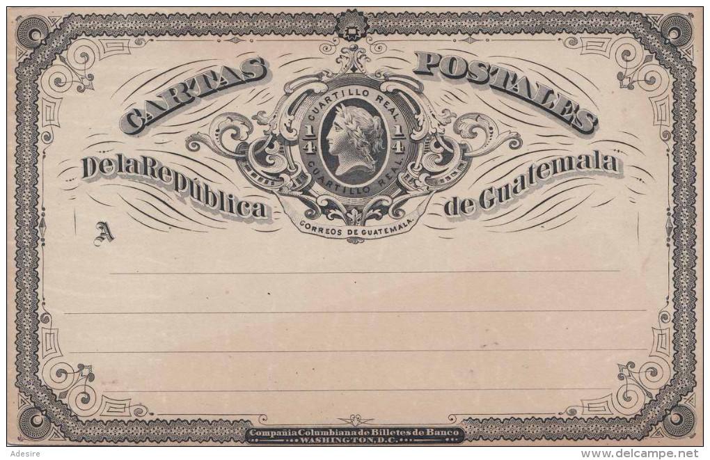 1897 - GUATEMALA - 3 Centavos Ganzsache ** Auf Postkarte - Sehr Gute Erhaltung - Guatemala