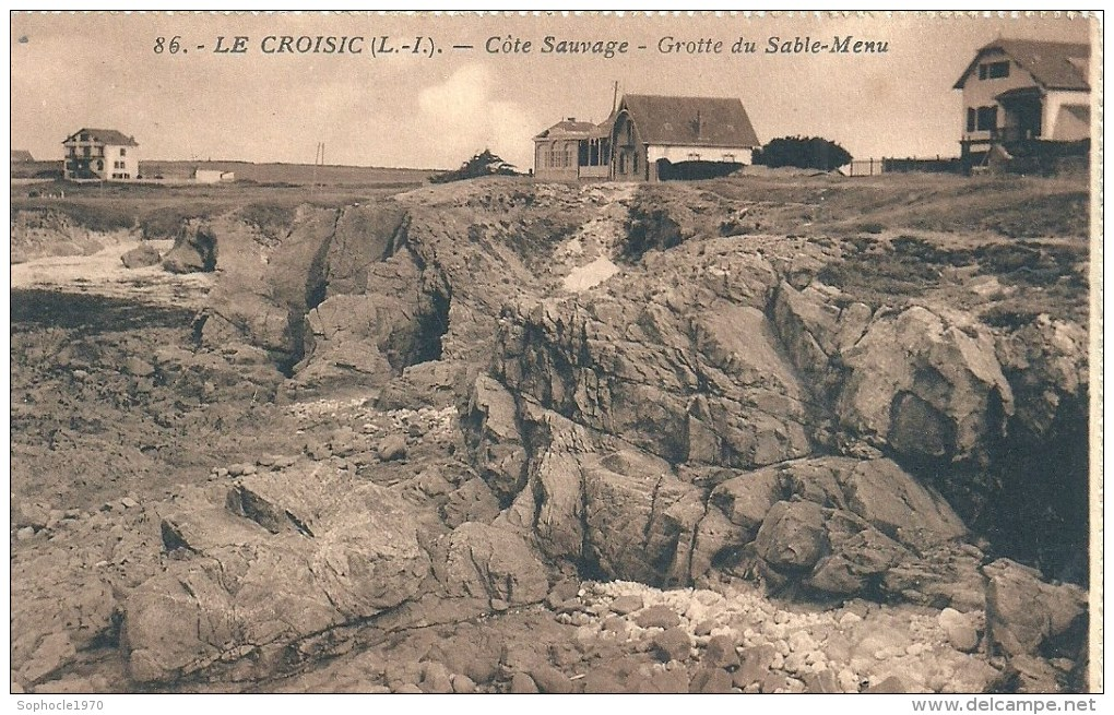 PAYS DE LA LOIRE - 44 - LOIRE ATLANTIQUE - LE CROISIC - Côte Sauvage - Grotte Du Sable Menu - Le Croisic