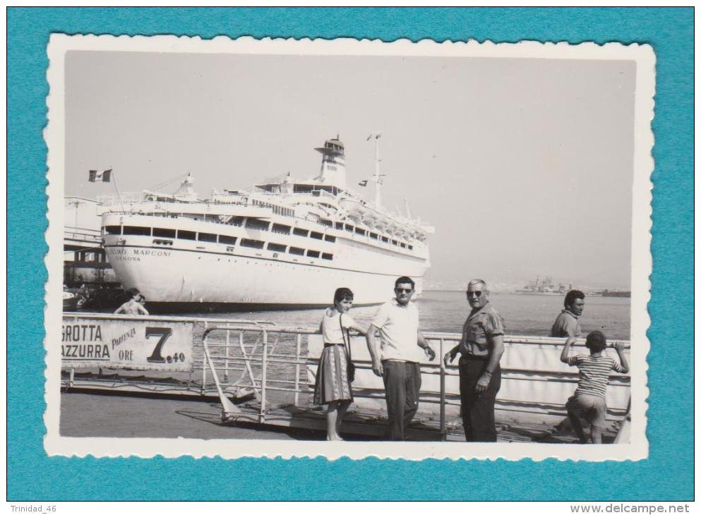 BATEAU PAQUEBOT LE GUGLIELMO MARCONI ( PHOTOGRAPHIE ANCIENNE ) - Schiffe