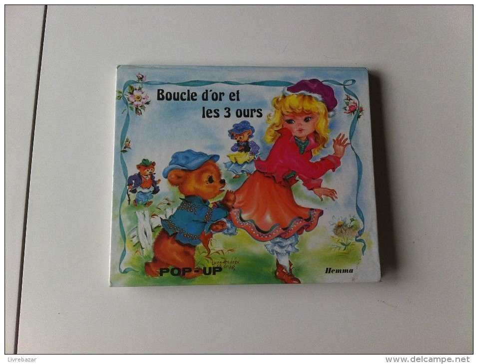 Ancien BOUCLE D´OR ET LES 3 OURS Pop Up Illustrations LUCE ANDREE LAGARDE - Contes