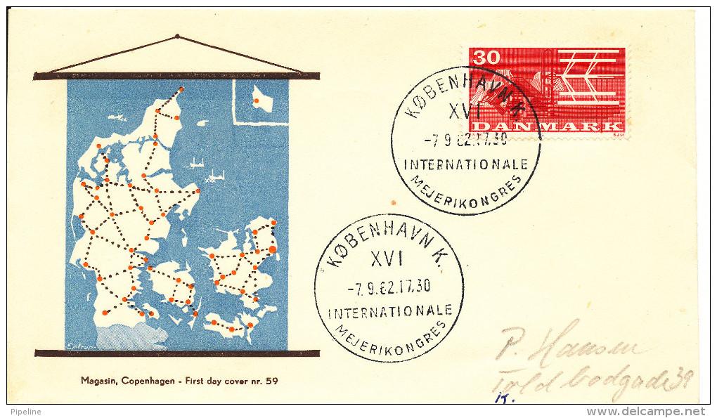 Denmark Cover Copenhagen 7-9-1962 XVI International Dairy Congress - Danemark