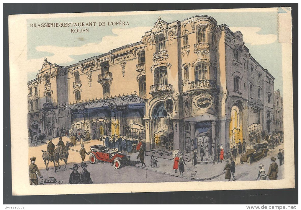 CPA 76 Rouen Brasserie-Restaurant De L´Opéra De 1922 - Rouen
