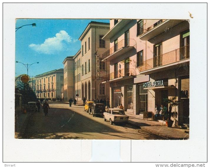 AVELLINO,P.za Garibaldi E Hotel PATRIA-1967-Benzina SHELL-Auto-CAR-!!!!!!!!! - Avellino