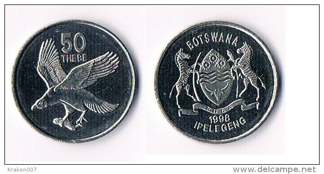 Botswana  50 Thebe  1998 - Botswana