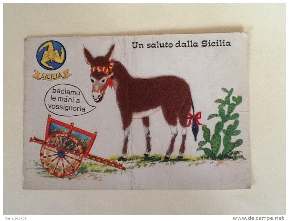 SALUTO DALLA SICILIA SIMPATICA NON VIAGGIATA. M - Italien