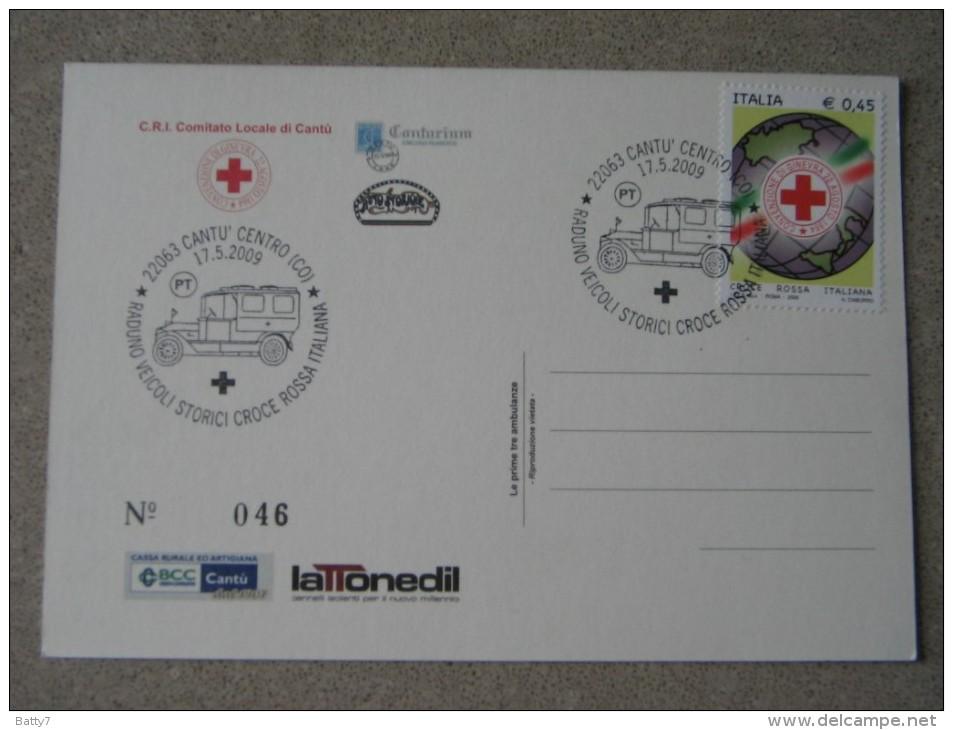 ITALIA 2009 RADUNO VEICOLI STORICI CROCE ROSSA - CANTU´- TIRATURA LIMITATA - Croce Rossa