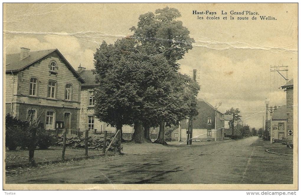 Haut-Fays - La Grand'Place, Les écoles Et La Route De Wellin ( Voir Verso ) - Daverdisse