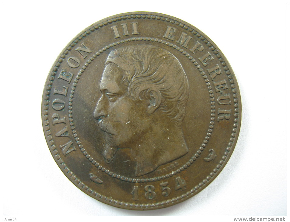 FRANCE 10 CENTIMES 1854 W  COIN HIGH GRADE  LOT 32 NUM 8 - France