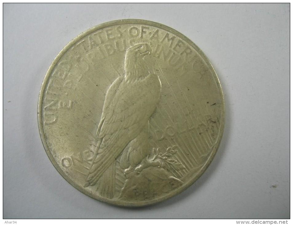 US USA 1 ONE PEACE DOLLAR COIN SILVER 1923    LOT 10 NUM 206 - Émissions Fédérales