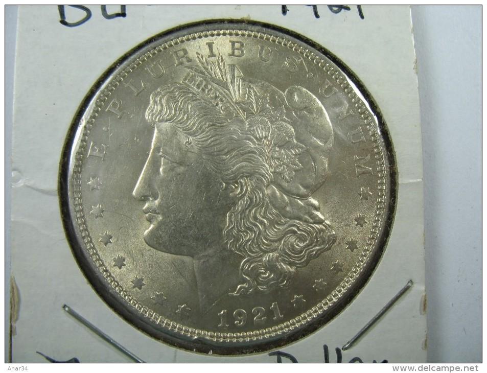 US USA 1 ONE DOLLAR MORGAN COIN SILVER 1921    LOT 10 NUM 207 - Émissions Fédérales