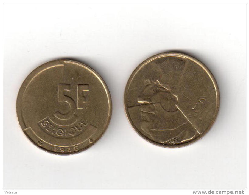 Pièce : Belgique, 5 Fr, 1986 - 1951-1993: Baudouin I