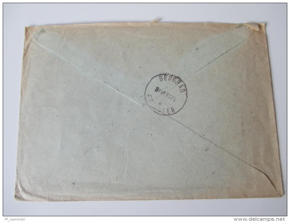 Jugoslawien 1958 Registered Letter To Stuttgart. Schöne Frankatur. R Beograd 4 No 7694 - 1945-1992 Socialistische Federale Republiek Joegoslavië