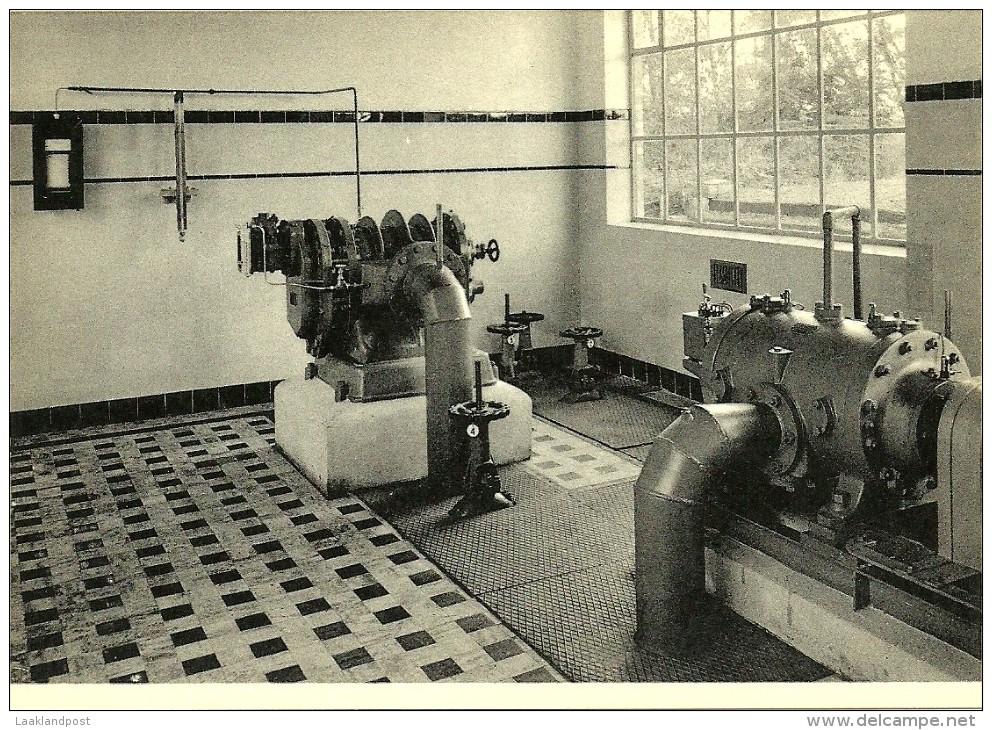 Charbonnage De Monceau-Fontaine Station De Captage Du Grisou: Interieur De La Salle Des Machines - Mijnen