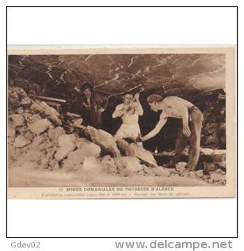 TBJTP1857-LFTD130TPROMI.T Rjeta Postal De.trabajo.frances.LA VIDA DE UN MINERO 6.Haciendo GALERIAS - Mineral