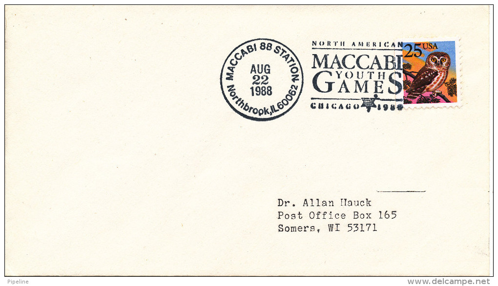 USA North American MACCABI Youth Games Chicago 22-8-1988 - Enveloppes évenementielles