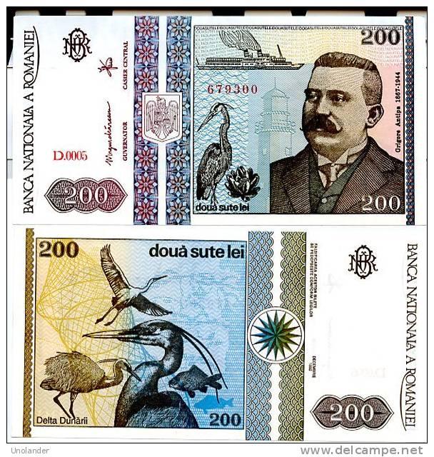 ROMANIA P-100 200 Lei 1992  **UNC** Crisp New - Roumanie