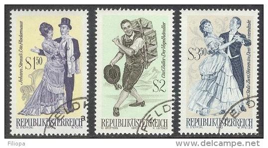 Österreich 1970   : Mi. 1338/40 Ø - Operetten  ...     (Price Is Inclusive Of Delcampe Fees)  .. X1401 - 1945-.... 2de Republiek
