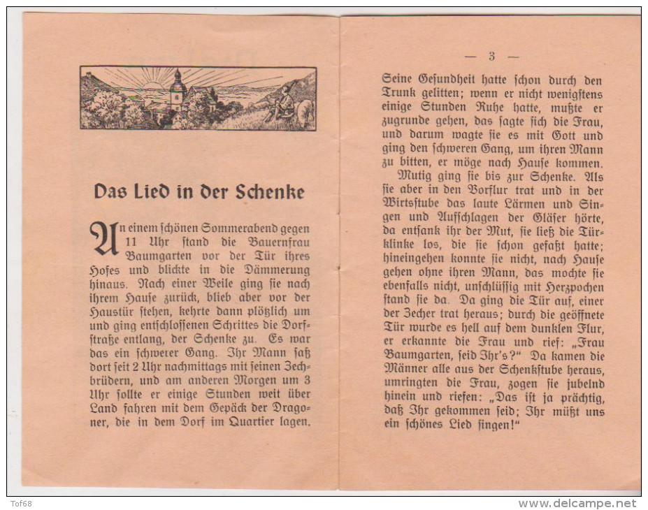 Kleine Heft 1949 Der Lied In Der Schenke St Johannis Druckerei Dinglingen - Christendom
