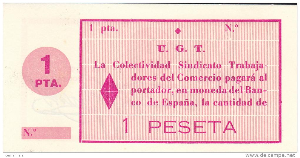BILLETE LOCAL GUERRA CIVIL 1 PTS GUADIX  S/C - Espagne