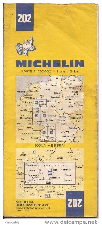 Cartes Michelin 202 - 1977 - Köln - Essen - Cartes Routières