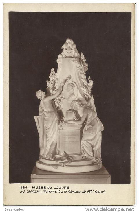 PARIS, MUSÉE DU LOUVRE. MONUMENT À LA MEMOIRE DE Mme FAVART. J.J CAFFIERI. CARTE PHOTO - Museos