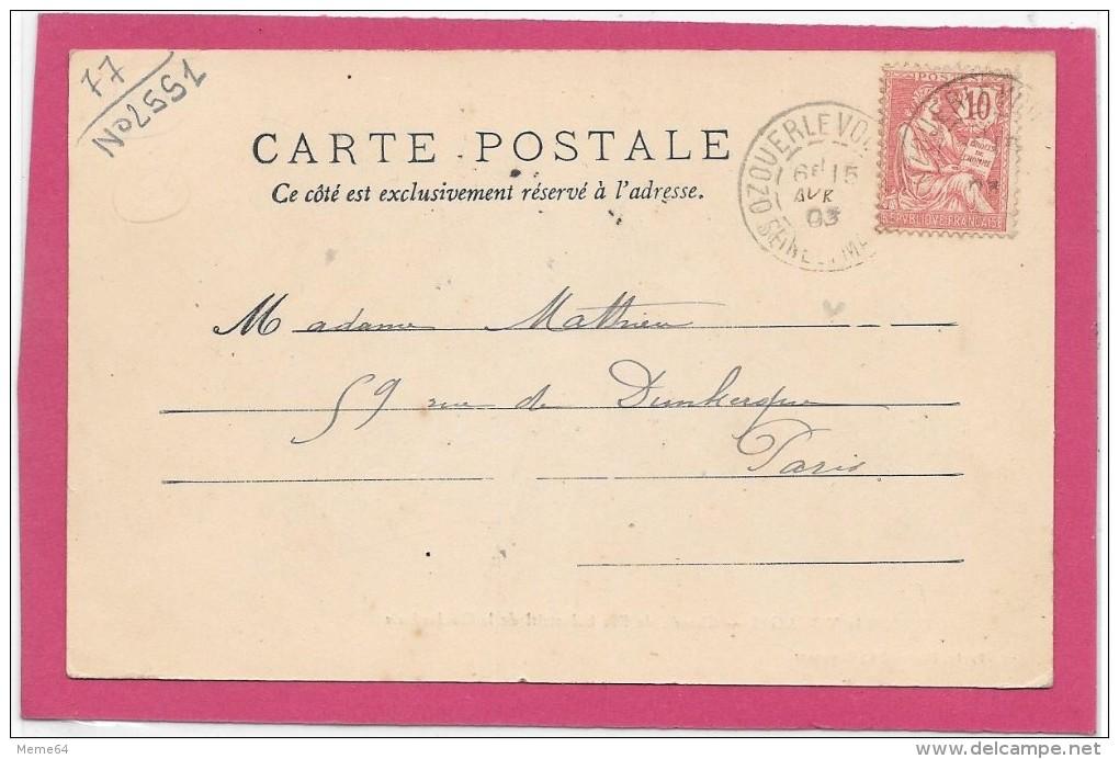 77 . OZOUER-LE-VOULGIS   --  CHEMIN DE FER INDUSTRIEL DE LA GOULARDERIE  1903 - Non Classés
