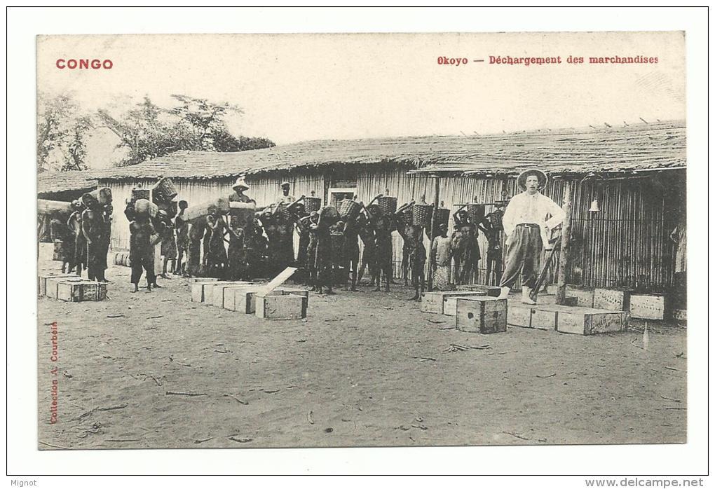 CPA AFRIQUE CONGO -  Okoyo - Déchargement Des Marchandises - Französisch-Kongo - Sonstige