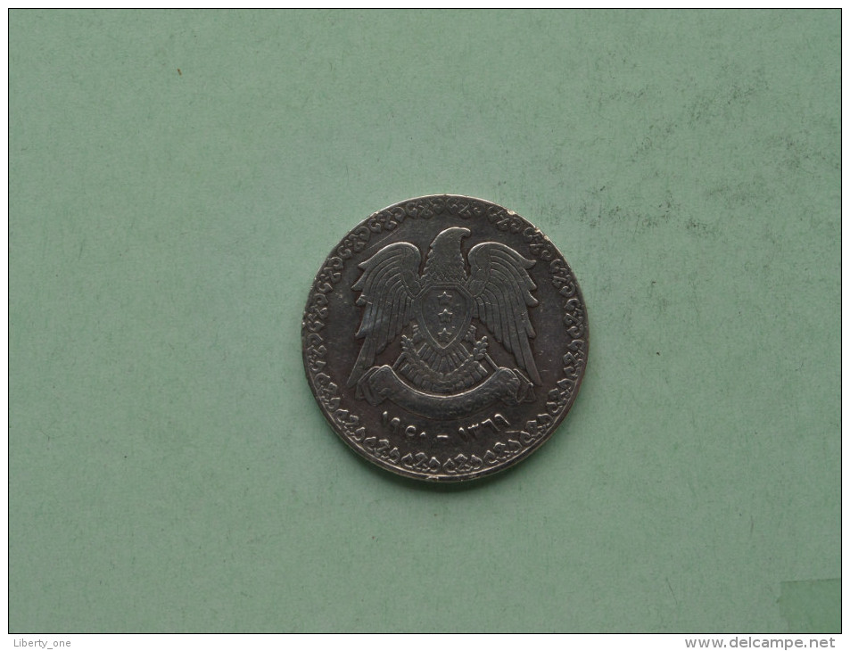 1950 / 1369 - 1 Lira / KM 85 ( Silver / Uncleaned - For Grade, Please See Photo ) ! - Syrie