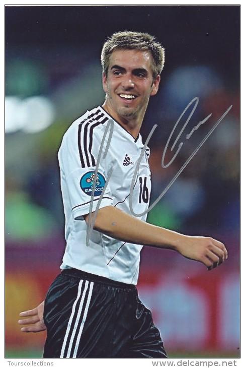 DEDICACE Autographe Football De LAHM (Allemagne)  Joue Au Bayern De Munich - Champion Du Monde 2014 - Autographes