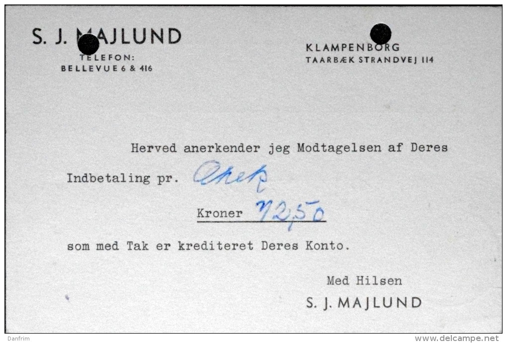 Danmark  1949 Letter Cards Klampenborg (parti 538) - Danemark