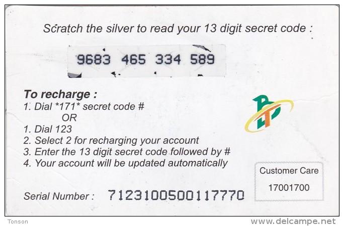 Bhutan, BHU-MOB-0022, Nu.50, Prepaid Recharge Voucher, 2 Scans - Bhutan